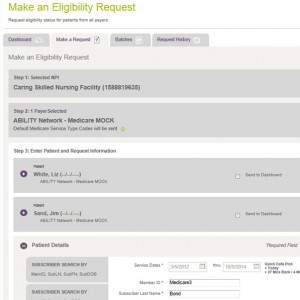 Make multiple patient and payer requests at once