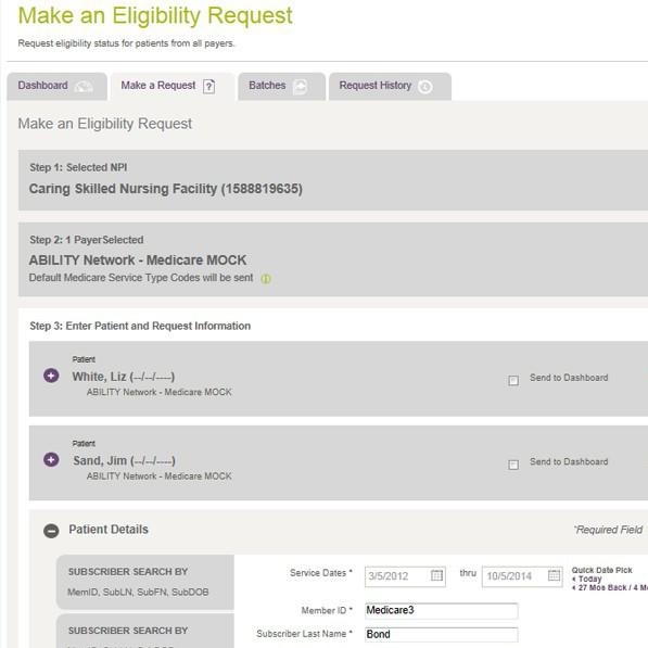 All-payer eligibility verification