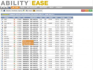 ABILITY   EASE overnight summary report