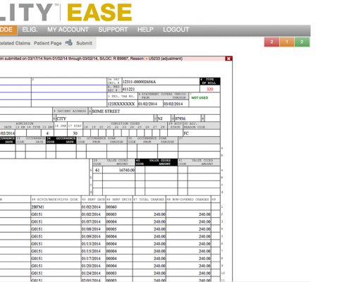 The UB04 is the interface for claims submissions and corrections in ABILITY | EASE
