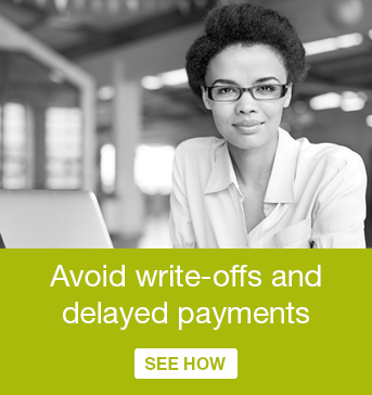 Avoid write-offs and delayed payments